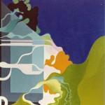 """"""" Byggnation och vindlingar"""" akryl på duk 1973"""