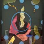 """Objekt i akvarell, collage 2015, """"Je suis Charlie"""""""