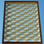 Objekt 2002, Skuggor och dagrar, papper glas och ram, 48 x 34 cm