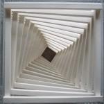 Papper plexiglas, 21 x 21 x 29 cm